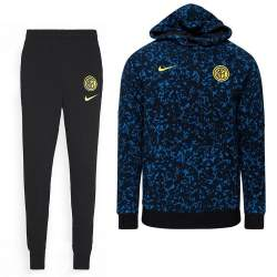 Nike Inter Milan GFA Fleece Trainingspak 2020-2021 Zwart Blauw
