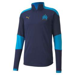 PUMA Olympique Marseille 1/4 Zip Trainingstrui 2020-2021 Donkerblauw Blauw